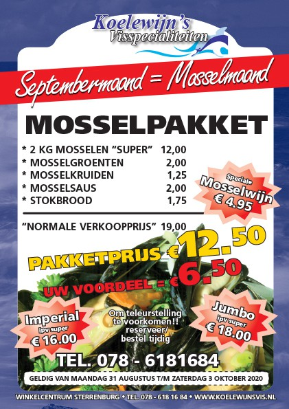 Septembermaand is Mosselmaand